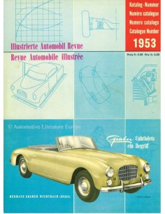1953 AUTOMOBIL REVUE YEARBOOK GERMAN FRENCH