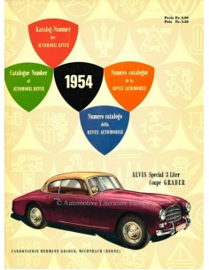 1954 AUTOMOBIL REVUE YEARBOOK GERMAN FRENCH