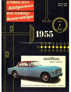 1955 AUTOMOBIL REVUE YEARBOOK GERMAN FRENCH