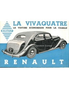 1936 RENAULT VIVAQUATRE BROCHURE FRENCH