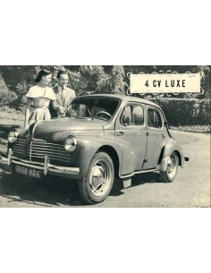 19350 RENAULT 4CV LUXE BROCHURE FRENCH