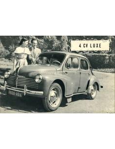 1950 RENAULT 4CV LUXE PROSPEKT FRANZÖSISCH