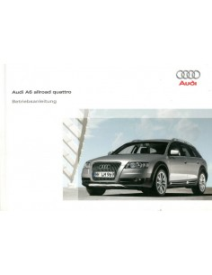 2008 AUDI A6 ALLROAD QUATTRO OWNER'S MANUAL GERMAN