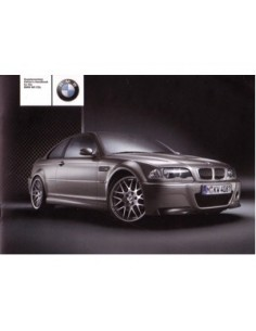 2003 BMW M3 CSL OWNERS MANUAL SUPPLEMENT ENGLISH
