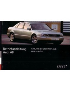 1994 AUDI A8 OWNER'S MANUAL GERMAN