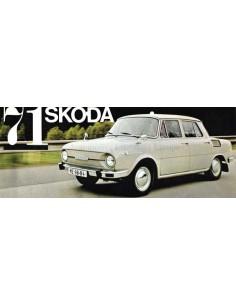 1971 SKODA 100 / 110 / 110R PROSPEKT NIEDERLÄNDISCH