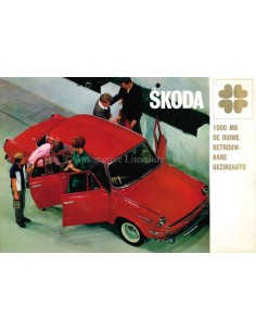 1967 SKODA 1000 MB BROCHURE NEDERLANDS