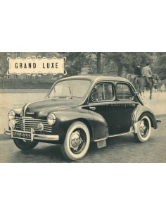 1950 RENAULT 4CV GRAND LUXE BROCHURE FRENCH