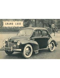 1950 RENAULT 4CV GRAND LUXE PROSPEKT FRANZÖSISCH
