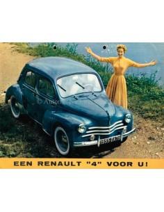1955 RENAULT 4 PROSPEKT NIEDERLÄNDISCH