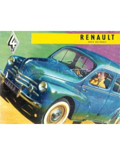 1958 RENAULT 4CV BROCHURE DUTCH
