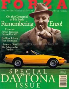 1998 FERRARI FORZA MAGAZINE 10 ENGLISH