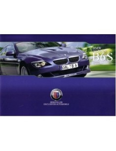 2008 BMW ALPINA B6S COUPE & CABRIO BROCHURE DUITS