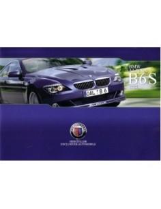 2008 BMW ALPINA B6S COUPE & CABRIO BROCHURE DUITS