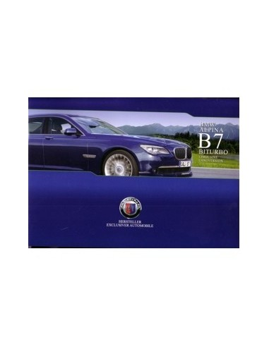 2009 BMW ALPINA B7 BITURBO BROCHURE DUITS