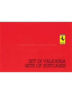 1986 FERRARI SETS OF SUITCASES BROCHURE ITALIAN ENGLISH