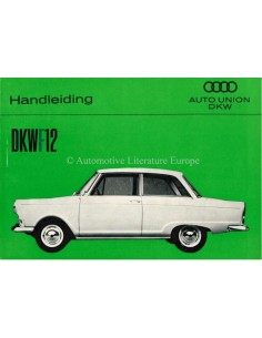 1963 DKW F12 OWNERS MANUAL DUTCH