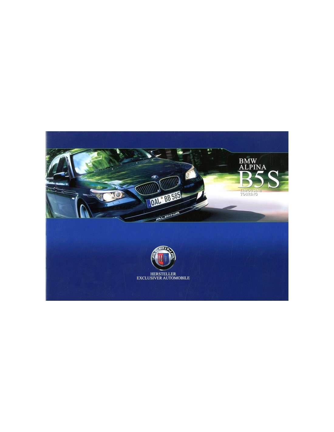 2007 Bmw Alpina B5 S Brochure German
