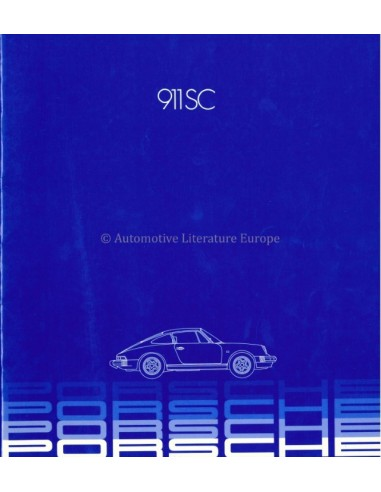 1982 PORSCHE 911 SC BROCHURE ENGLISH (US)