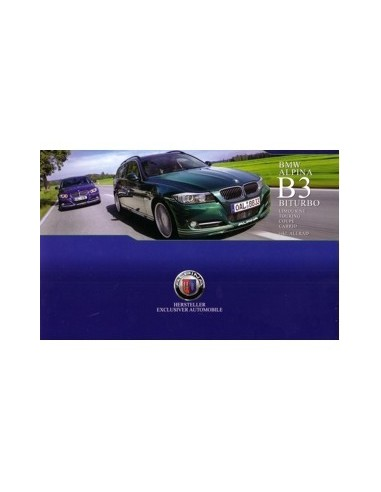 2008 BMW ALPINA B3 BITURBO BROCHURE DUITS