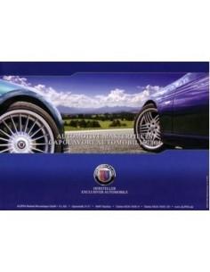 2009 BMW ALPINA PROGRAMMA BROCHURE ENGELS