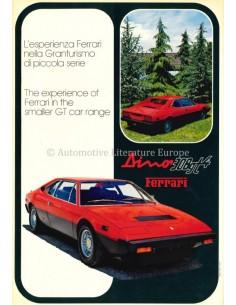 1975 FERRARI 308 GT4 BROCHURE ENGLISH (US)