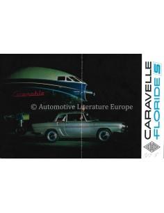1963 RENAULT CARAVELLE / FLORIDE S BROCHURE DUTCH