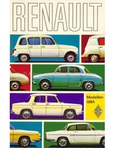 1964 RENAULT RANGE BROCHURE DUTCH
