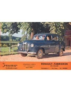1952 RENAULT COLORALE PRAIRIE BROCHURE DUTCH