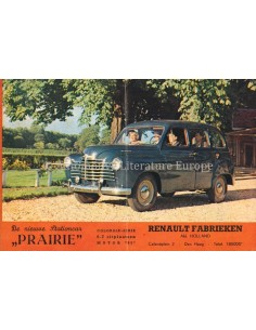 1952 RENAULT COLORALE PRAIRIE PROSPEKT NIEDERLÄNDISCH