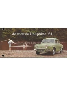 1964 RENAULT DAUPHINE BROCHURE DUTCH