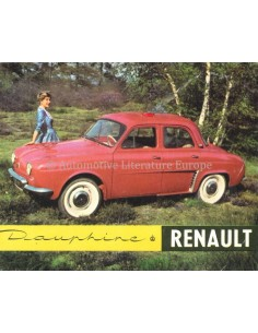 1958 RENAULT DAUPHINE BROCHURE DUTCH