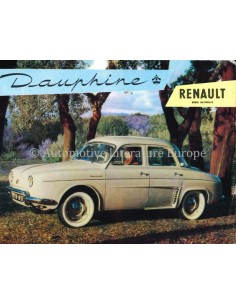 1957 RENAULT DAUPHINE BROCHURE DUTCH