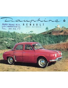 1956 RENAULT DAUPHINE BROCHURE DUTCH