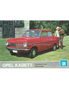 1964 OPEL KADETT A PROGRAMM PROSPEKT NIEDERLÄNDISCH