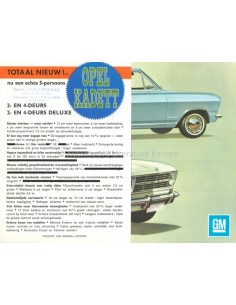 1965 OPEL KADETT B COUPÉ BROCHURE DUTCH