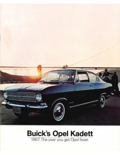 1967 OPEL BUICK'S OPEL KADETT B BROCHURE ENGLISH
