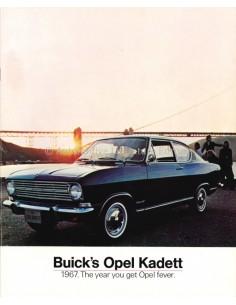 1967 OPEL BUICK'S OPEL KADETT B PROSPEKT ENGLISCH