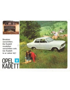1965 OPEL KADETT B RANGE BROCHURE DUTCH