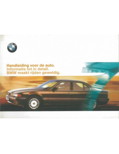 1999 BMW 7 SERIE INSTRUCTIEBOEKJE NEDERLANDS