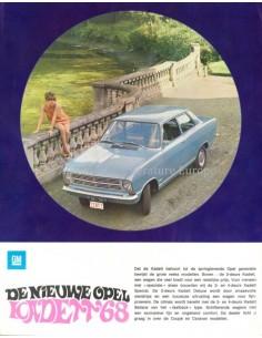 1968 OPEL KADETT B PROGRAMM PROSPEKT NIEDERLÄNDISCH