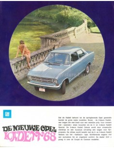 1968 OPEL KADETT B RANGE BROCHURE DUTCH