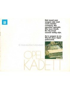 1970 OPEL KADETT B PROGRAMM PROSPEKT NIEDERLÄNDISCH