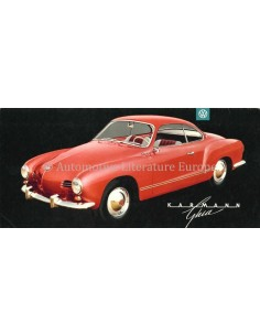 1957 VOLKSWAGEN 1500 KARMANN GHIA BROCHURE ENGLISH