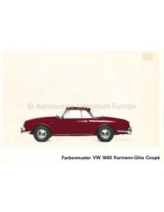 1965 VOLKSWAGEN 1600 KARMANN GHIA BROCHURE DUITS