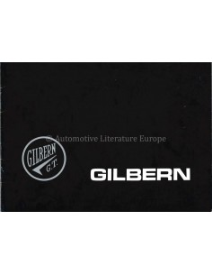 1959 GILBERN GT1800 / 2 LITRE V4 BROCHURE ENGLISH
