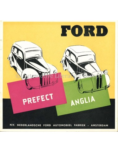 1951 FORD PREFECT & ANGLIA BROCHURE DUTCH