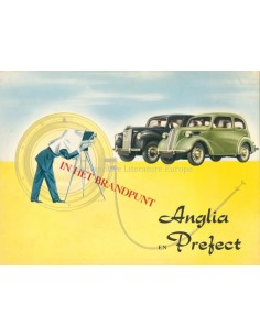 1952 FORD PREFECT & ANGLIA BROCHURE DUTCH