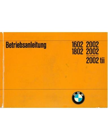 1971 BMW 1602 1802 2002 OWNERS MANUAL  GERMAN