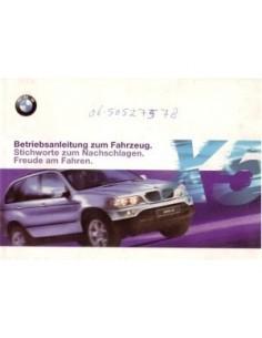 2000 BMW X5 OWNERS MANUAL HANDBOOK GERMAN